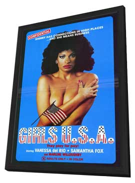 Girls U.S.A. - 11 x 17 Movie Poster - Style A - in Deluxe Wood Frame