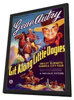 Git Along Little DogiesGit Along Little Dogies - 11 x 17 Movie Poster - Style A - in Deluxe Wood Frame