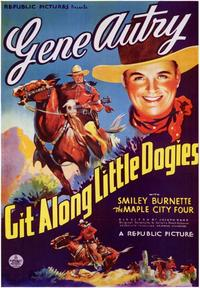 Git Along Little DogiesGit Along Little Dogies - 43 x 62 Movie Poster - Bus Shelter Style A