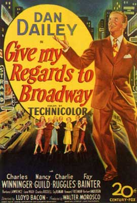 Give My Regards to Broadway - 27 x 40 Movie Poster - Style A