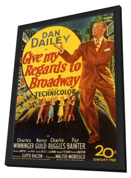 Give My Regards to Broadway - 11 x 17 Movie Poster - Style A - in Deluxe Wood Frame