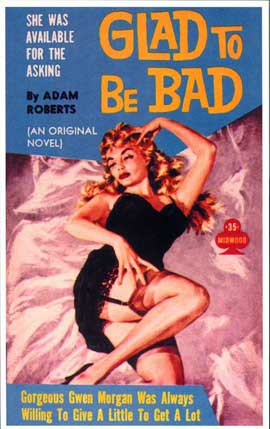 Glad to be Bad - 11 x 17 Retro Book Cover Poster