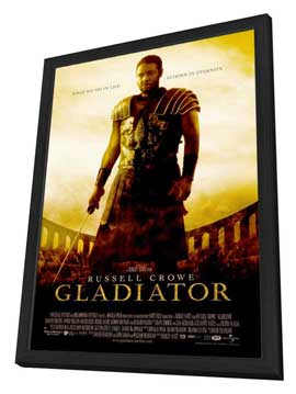 Gladiator - 27 x 40 Movie Poster - Style A - in Deluxe Wood Frame