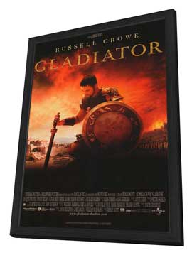 Gladiator - 27 x 40 Movie Poster - French Style A - in Deluxe Wood Frame