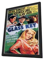 Glass Key - 11 x 17 Movie Poster - Style A - in Deluxe Wood Frame