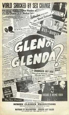Glen or Glenda? - 27 x 40 Movie Poster - Style C