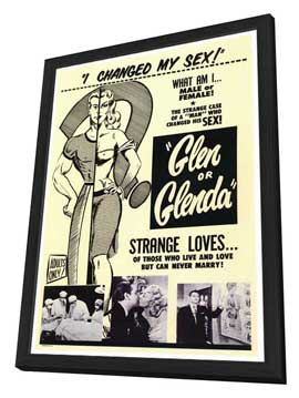 Glen or Glenda? - 27 x 40 Movie Poster - Style A - in Deluxe Wood Frame