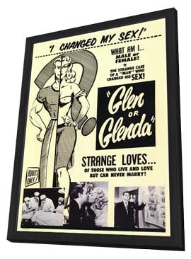 Glen or Glenda? - 11 x 17 Movie Poster - Style A - in Deluxe Wood Frame