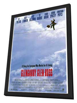 Glengarry Glen Ross - 27 x 40 Movie Poster - Style A - in Deluxe Wood Frame