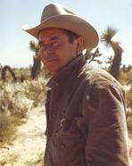 Glenn Ford - Roy Rogers posed with Horse in Cowboy Outfit