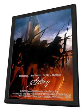 Glory - 11 x 17 Movie Poster - Style D - in Deluxe Wood Frame