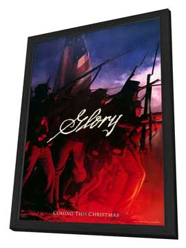 Glory - 27 x 40 Movie Poster - Style A - in Deluxe Wood Frame