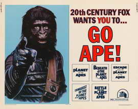 Go Ape (Planet of the Apes) - 22 x 28 Movie Poster - Half Sheet Style A