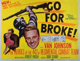 Go for Broke - 11 x 14 Movie Poster - Style A