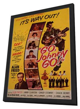 Go, Johnny, Go! - 11 x 17 Movie Poster - Style A - in Deluxe Wood Frame