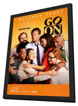 Go On (TV) - 11 x 17 TV Poster - Style A - in Deluxe Wood Frame