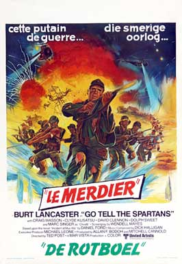 Go Tell the Spartans - 11 x 17 Movie Poster - Belgian Style A