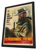 God Forgives - I Dont - 11 x 17 Movie Poster - Spanish Style A - in Deluxe Wood Frame