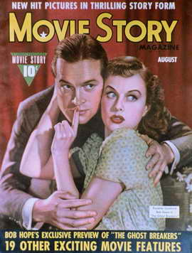 Paulette Goddard - 11 x 17 Movie Story Magazine Cover 1940's