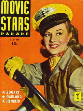 Paulette Goddard - 11 x 17 Movie Stars Parade Magazine Cover 1940's
