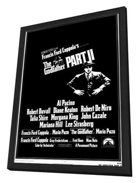 The Godfather, Part 2 - 11 x 17 Movie Poster - Style A - in Deluxe Wood Frame