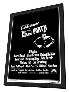 The Godfather, Part 2 - 27 x 40 Movie Poster - Style A - in Deluxe Wood Frame