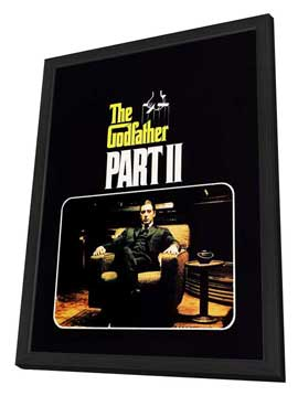 The Godfather, Part 2 - 27 x 40 Movie Poster - Style F - in Deluxe Wood Frame