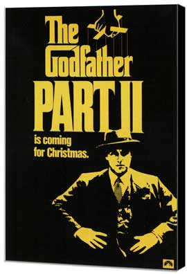 The Godfather, Part 2 - 11 x 17 Movie Poster - Style B - Museum Wrapped Canvas
