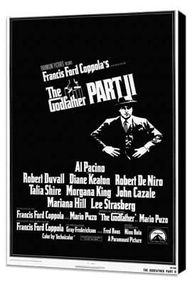 The Godfather, Part 2 - 27 x 40 Movie Poster - Style A - Museum Wrapped Canvas