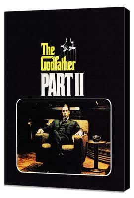The Godfather, Part 2 - 27 x 40 Movie Poster - Style F - Museum Wrapped Canvas