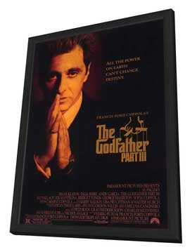 The Godfather, Part 3 - 11 x 17 Movie Poster - Style B - in Deluxe Wood Frame