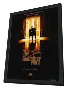The Godfather, Part 3 - 27 x 40 Movie Poster - Style A - in Deluxe Wood Frame