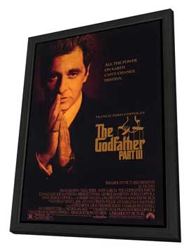 The Godfather, Part 3 - 27 x 40 Movie Poster - Style B - in Deluxe Wood Frame