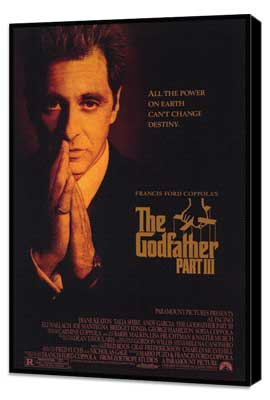 The Godfather, Part 3 - 27 x 40 Movie Poster - Style B - Museum Wrapped Canvas