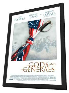 Gods and Generals - 11 x 17 Movie Poster - Style B - in Deluxe Wood Frame
