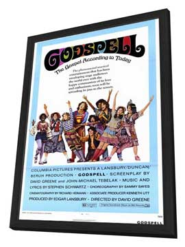 Godspell - 11 x 17 Movie Poster - Style A - in Deluxe Wood Frame