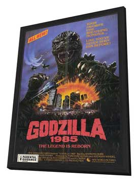 Godzilla 1985 - 11 x 17 Movie Poster - Style A - in Deluxe Wood Frame