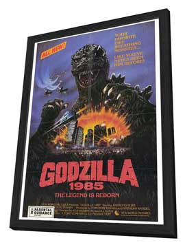 Godzilla 1985 - 27 x 40 Movie Poster - Style A - in Deluxe Wood Frame