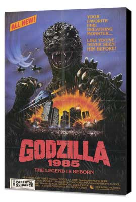 Godzilla 1985 - 11 x 17 Movie Poster - Style A - Museum Wrapped Canvas