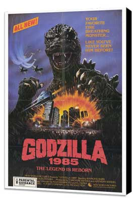 Godzilla 1985 - 27 x 40 Movie Poster - Style A - Museum Wrapped Canvas