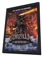 Godzilla 2000 - 11 x 17 Movie Poster - Style A - in Deluxe Wood Frame