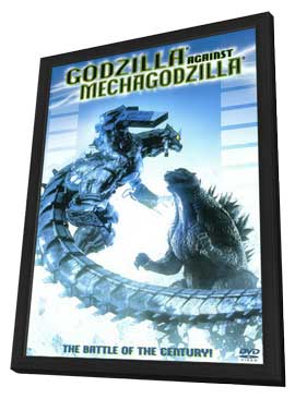 Godzilla Against MechaGodzilla - 11 x 17 Movie Poster - Style A - in Deluxe Wood Frame