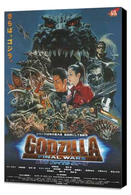 Godzilla: Final Wars - 11 x 17 Movie Poster - Japanese Style A - Museum Wrapped Canvas