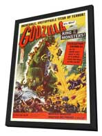 Godzilla, King of the Monsters - 11 x 17 Movie Poster - Style A - in Deluxe Wood Frame