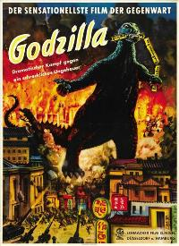 Godzilla, King of the Monsters - 27 x 40 Movie Poster - German Style A