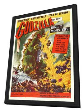 Godzilla, King of the Monsters - 27 x 40 Movie Poster - Style A - in Deluxe Wood Frame