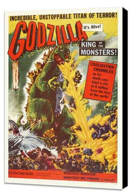 Godzilla, King of the Monsters - 27 x 40 Movie Poster - Style A - Museum Wrapped Canvas