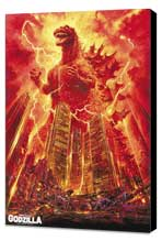 Godzilla, King of the Monsters - 11 x 17 Movie Poster - Style C - Museum Wrapped Canvas