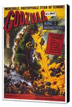 Godzilla, King of the Monsters - 27 x 40 Movie Poster - Style B - Museum Wrapped Canvas