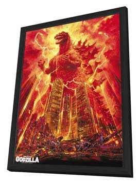 Godzilla, King of the Monsters - 27 x 40 Movie Poster - Style C - in Deluxe Wood Frame